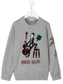 Dolce & Gabbana double bass player patch sweatshirt