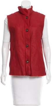 Bogner Button-Up Leather Vest