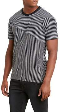 Kenneth Cole New York Blocked Stripe Crew Shirt - Men's