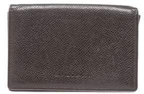 Bvlgari Black Leather Bi-fold Card Holder Wallet.
