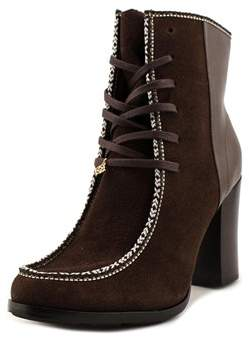 Nanette Lepore Isabel Women Round Toe Synthetic Brown Ankle Boot.