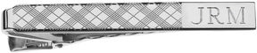 Asstd National Brand Personalized Plaid Pattern Tie Bar