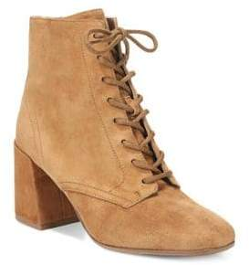 Vince Halle Square Toe Suede Booties
