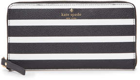 Kate Spade Hyde Lane Stripe Michele Zip Around Wallet