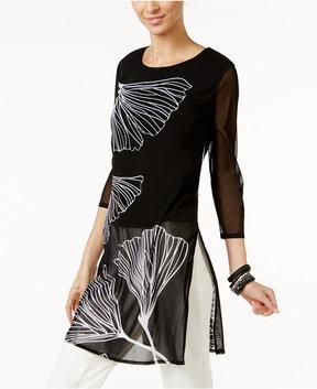 Alfani Printed Mesh Tunic, Created for Macy's