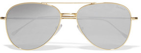 Illesteva Wooster Aviator-style Gold-tone Sunglasses - Silver