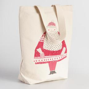 World Market Samichlaus Canvas Tote Bag