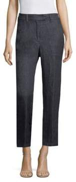 Peserico Cropped Soft Linen Jeans