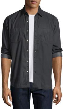 Neiman Marcus Culturata Special Resin-Wash Western Shirt