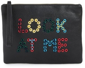 Sam Edelman Layton Look At Me Embellished Pouch - Black