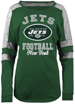 5th & Ocean Women's New York Jets Space Dye Long Sleeve T-Shirt