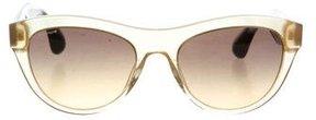 Miu Miu Bicolor Logo Sunglasses