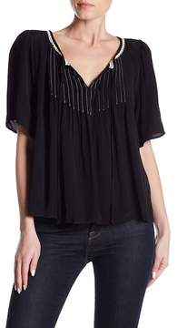 Velvet by Graham & Spencer Pleat Accent Top