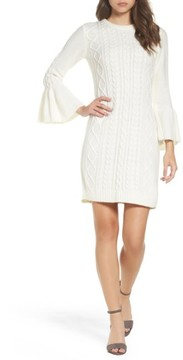 Eliza J Women's Mixed Cable Sweater Dress