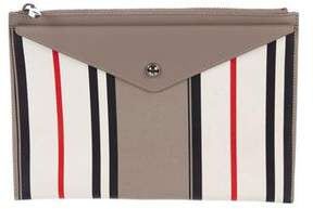 Givenchy Striped Zip Pouch
