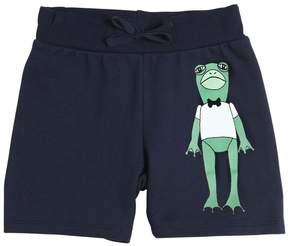 Mini Rodini Frog Print Organic Cotton Sweat Shorts