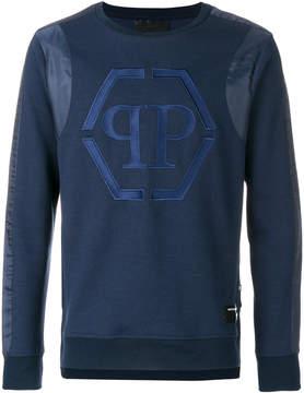 Philipp Plein logo embroidered sweatshirt