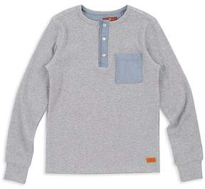 7 For All Mankind Boys' Ribbed Henley - Little Kid
