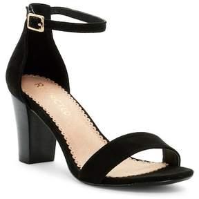 Restricted All Over You Block Heel Sandal