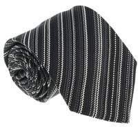 Missoni U4014 Black/silver Skarkskin 100% Silk Tie.