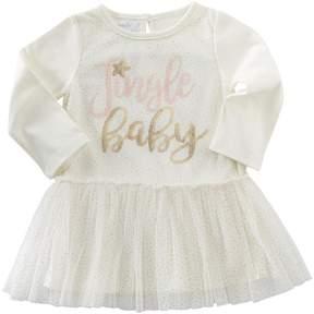 Mud Pie Jingle Baby Mesh Overlay Dress Girl's Dress