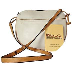 Delvaux Vintage White Leather Handbag