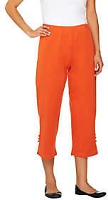 Bob Mackie Bob Mackie's Stretch Ponte Knit Crop Pants