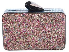 Kotur Glitter Box Clutch