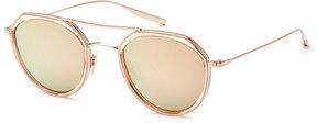 Salt Acetate & Titanium Round Polarized Sunglasses
