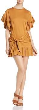 Scotch & Soda Tie-Front Ruffled Dress