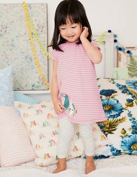 Boden Stripy Dress & Legging Set