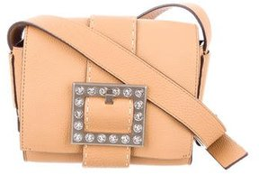 Michael Kors Crystal Embellished Buckle Crossbody Bag - BROWN - STYLE