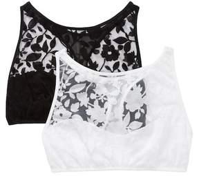 Flora Nikrooz Sleepwear Burnout Lace Bra Top - Pack of 2