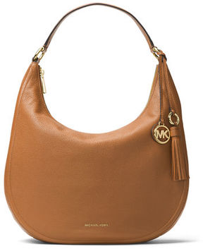 MICHAEL Michael Kors Lydia Large Leather Hobo Bag - BLACK - STYLE