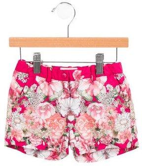 Moncler Girls' Floral Mini Shorts