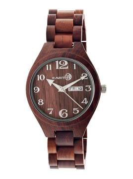Earth Eco-Friendly Red Wood Sapwood Watch