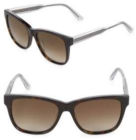 Bottega Veneta Gradient 55MM Wayfarer Sunglasses