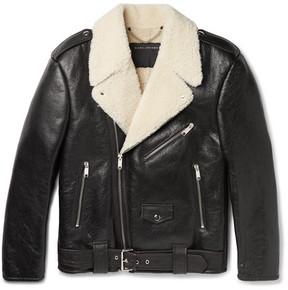Marc Jacobs Grand Prix Oversized Shearling Biker Jacket