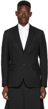 Comme des Garcons Black Wool Deformed Cut-Out Back Blazer