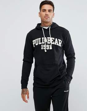 Pull&Bear Hoodie With Logo In Black