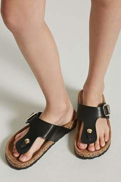 Forever 21 Girls Faux Leather Buckle Sandals (Kids)
