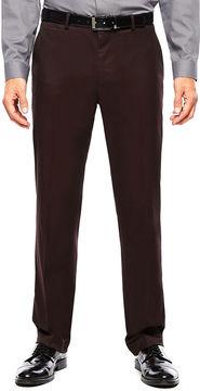 Jf J.Ferrar JF Burgundy Twill Flat-Front Suit Pants - Slim Fit