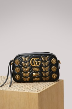 Gucci GG Marmont animal studs shoulder bag - BLACK - STYLE