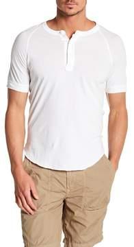 Save Khaki Short Sleeve Henley
