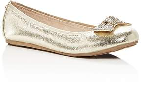 Stuart Weitzman Girls' Fannie Glitz Embellished Bow Flats - Little Kid, Big Kid