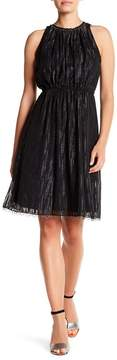T Tahari Talia Beaded Neck Dress