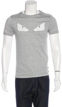 Fendi Monster Leather-Trimmed T-Shirt