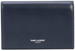 Saint Laurent Fragments flap wallet - BLUE - STYLE