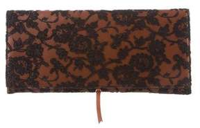 Rochas Lace & Leather Clutch
