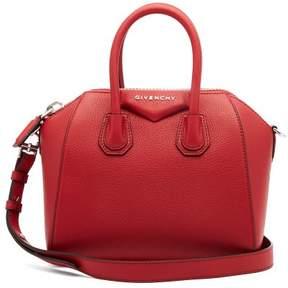 Givenchy Antigona Mini Grained Leather Cross Body Bag - Womens - Red